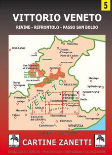 Listadelpopolo.it Vittorio Veneto. Revine, Refrontolo, passo San Boldo 1:30.000 Image