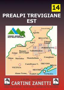 Prealpi trevigiane est 1:30.000. Ediz. illustrata
