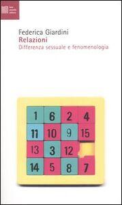Relazioni. Differenza sessuale e fenomenologia