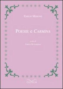 Poesie e carmina. Testo latino a fronte