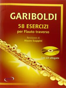 Gariboldi. 58 esercizi per flauto traverso. Con CD Audio