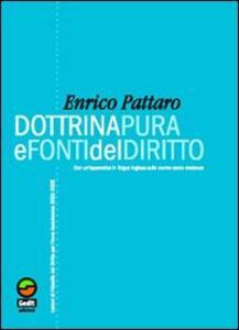 Dottrina pura e fonti del diritto. Lezioni di filosofia del diritto per l'anno 2005-2006