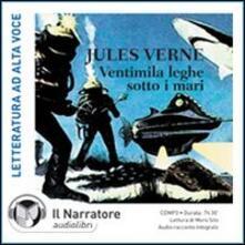 Ventimila leghe sotto i mari. Audiolibro. CD Audio formato MP3. Ediz. integrale - Jules Verne - copertina