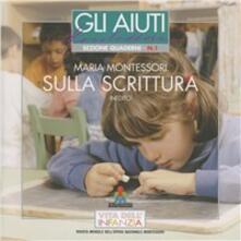 Sulla scrittura - Maria Montessori - copertina
