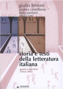 Fondazionesergioperlamusica.it Storia e testi della letteratura italiana. Vol. 9: Guerra e fascismo (1910-1945). Image