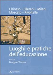 Luoghi e pratiche dell'educazione - copertina