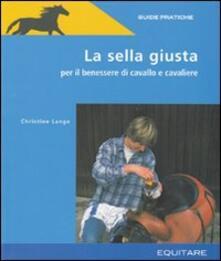 Scegliere la sella - Christine Lange - copertina