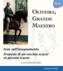 Oliveira, grande maestro. Vol. 3 - copertina