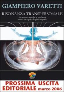 Risonanza transpersonale - Giampiero Varetti - copertina