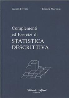Complementi ed esercizi di statistica descrittiva - Gianni Marliani - copertina