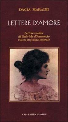 Lettere d'amore - Dacia Maraini - copertina