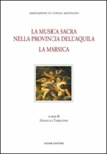 La musica sacra nella provincia dell'Aquila. La Marsica - copertina