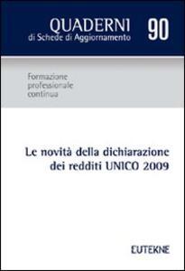 Le novità della dichiarazione dei redditi UNICO 2009