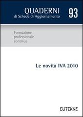 Le novita IVA 2010