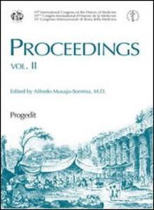 Proceedings. 39° Congresso internazionale di storia della medicina. Ediz. inglese