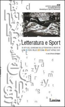 Listadelpopolo.it Letteratura e sport. Atti del Convegno (Roma, 5-7 aprile 2001) Image