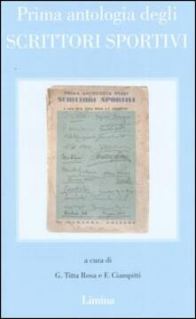 Prima antologia degli scrittori sportivi (rist. anast. Milano, 1934) - copertina