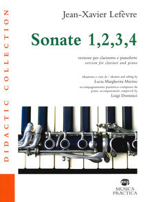 Listadelpopolo.it Sonate 1, 2, 3, 4. Versione per clarinetto e pianoforte Image