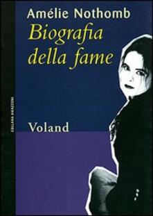 Biografia della fame - Amélie Nothomb - copertina