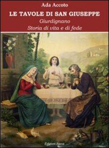 Foto Cover di Le tavole di san Giuseppe. Storie di vita e di fede, Libro di Ada Accoto, edito da Atena Edizioni