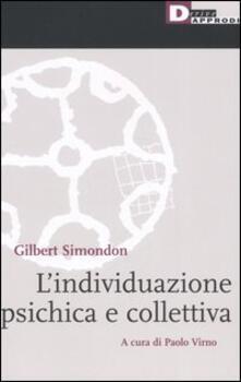 L' individuazione psichica e collettiva - Gilbert Simondon - copertina