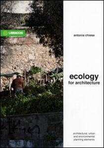 Libro Ecology for architecture Antonia Chiesa