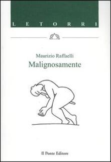 Malignosamente - Maurizio Raffaelli - copertina