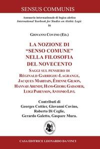 La La nozione di «senso comune» nella filosofia del Novecento - Covino Giovanni - wuz.it