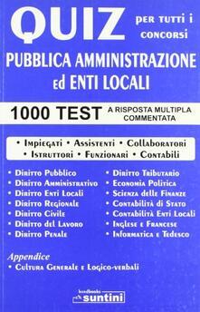 Camfeed.it Pubblica amministrazione ed enti locali. 1000 quiz Image