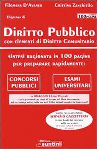 Diritto pubblico con elementi di diritto comunitario