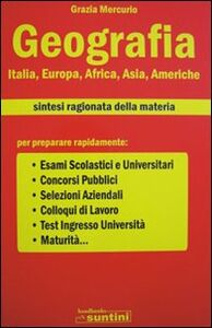 Geografia Italia, Europa, Africa, Asia, Americhe