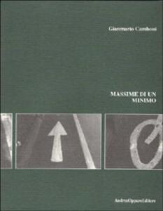 Massime di un minimo - G. Mario Camboni - copertina