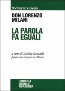 La parola fa eguali - Lorenzo Milani - copertina