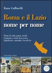 Roma e il lazio nome per nome