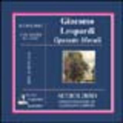 Operette morali. Audiolibro. CD Audio - Giacomo Leopardi - copertina