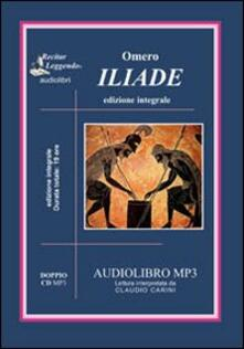 L' iliade. Audiolibro. 2 CD Audio formato MP3. Ediz. integrale - Omero - copertina