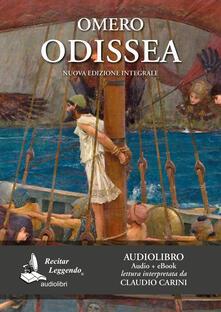 Odissea. Audiolibro. CD Audio formato MP3. Ediz. integrale - Omero - copertina