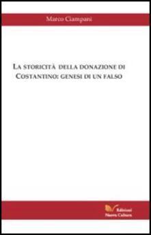 La storicità della donazione di Costantino - Marco Ciampani - copertina