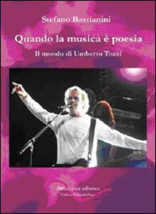 Quando la musica è poesia. Il mondo di Umberto Tozzi - Stefano Bastianini - copertina