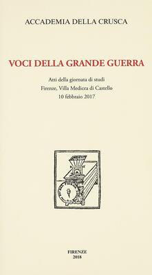 Voluntariadobaleares2014.es Voci della Grande Guerra. Atti della giornata di studi, Firenze, Villa Medicea di Castello, 10 febbraio 2017 Image