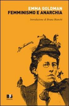 Femminismo e anarchia - Emma Goldman - copertina