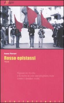 Rosso epistassi - Ivano Ferrari - copertina