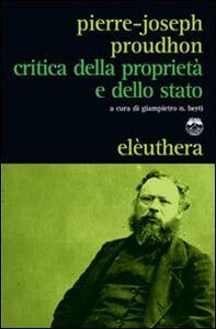 Critica della proprietà e dello Stato