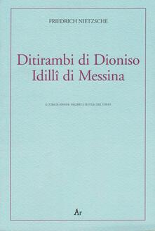 Winniearcher.com Ditirambi di Dioniso-Idilli di Messina. Testo tedesco a fronte Image