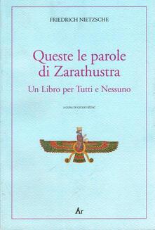 Lpgcsostenible.es Queste le parole di Zarathustra. Un libro per tutti e nessuno Image
