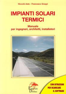 Antondemarirreguera.es Impianti solari termici. Manuale per ingegneri, architetti, installatori Image