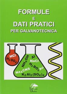 Premioquesti.it Formule e dati pratici per galvanotecnica Image