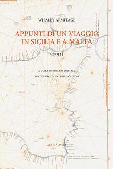 Appunti di un viaggio in Sicilia e a Malta (1791) - Whaley Armitage - copertina