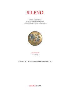 Voluntariadobaleares2014.es Sileno. Rivista di studi classici e cristiani (2013). Vol. 1-2: Omaggio a Sebastiano Timpanaro. Image