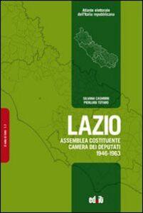 Lazio. Assemblea Costituente, Camera dei deputati (1946-1963)